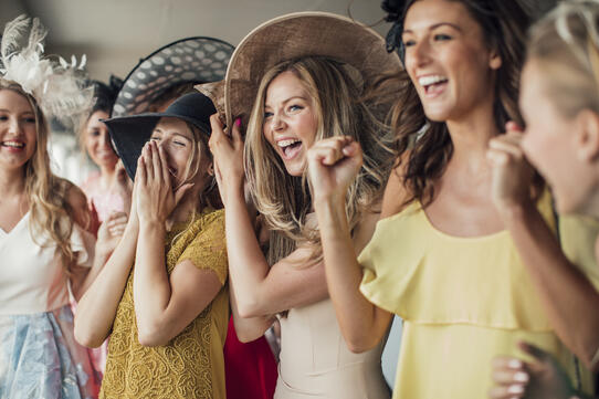 Women enjoying a Derby party
